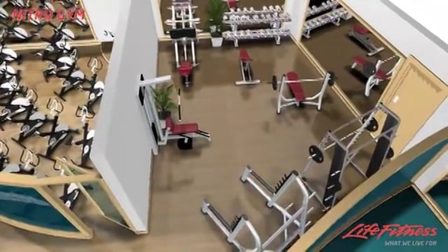 Gym 3D flythrough