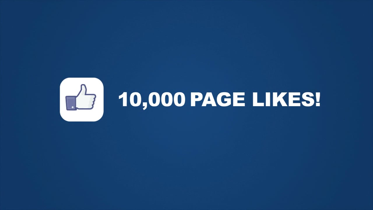 10,000 Facebook Likes – Thank you