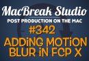 Motion Blur in Final Cut Pro X